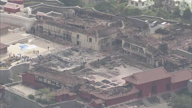 火事から1週間 首里城を建てるために多くの人が応援