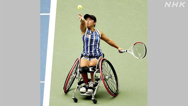 女子車椅子テニス上地選手
