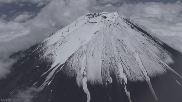 富士山に登る道がオープン 頂上まで登ることはできない