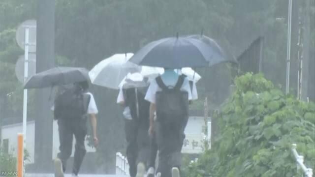 西日本でひどい雨「できるだけ早く安全な場所に逃げて」