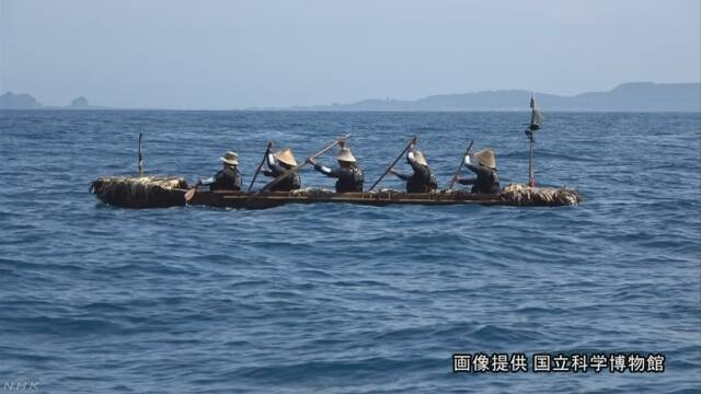 3万年前と同じように木の船で海を渡ることができた