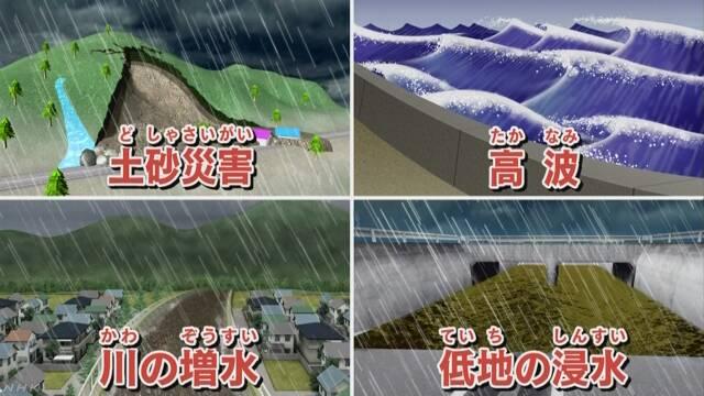 台風が来る 太平洋側は雨がたくさん降りそう