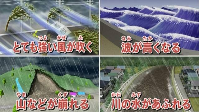 台風10号が来る 激しい雨や強い風に気をつけて