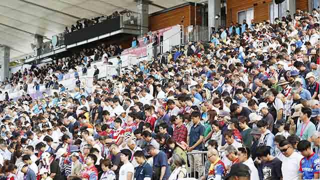 東日本大震災で被害があった釜石市でラグビーの試合