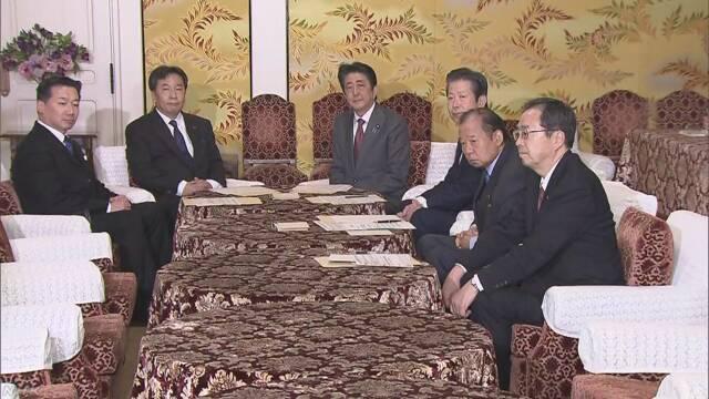 与野党党首会談終わる 新型ウイルス 法案成立へ協力呼びかけ | NHKニュース