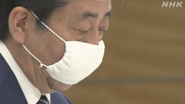 マスク 安倍 小さい 総理