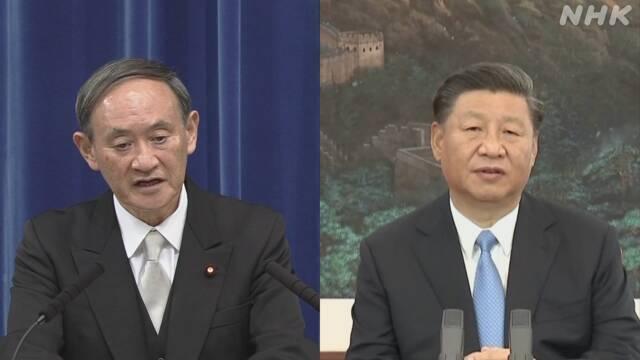 菅首相 中国・習近平国家主席と電話会談「緊密連携で一致」