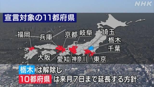 都府県 10 緊急事態宣言 10都府県