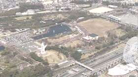 大阪府内の聖火リレー 万博記念公園内で一般観客入れずに実施