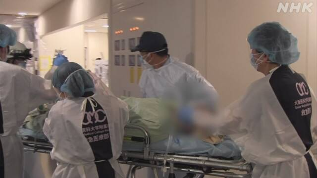 大阪府内の大学病院 連休中も重症患者の搬送相次ぐ