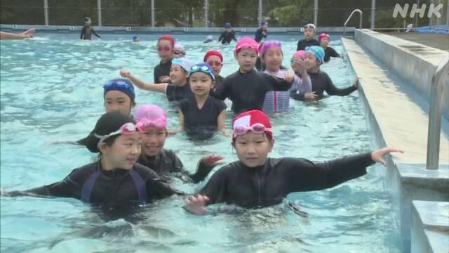小学校でプール開き 密を避け 2年ぶり水泳授業復活 宮崎 日南