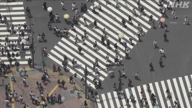 12日の人出 東京・大阪など増加 前の4週間の土日や祝日と比べ