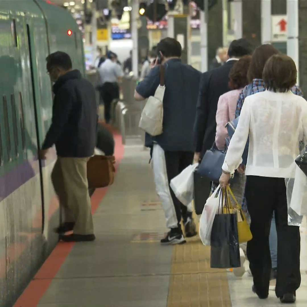 Domestic travel resumes in Japan