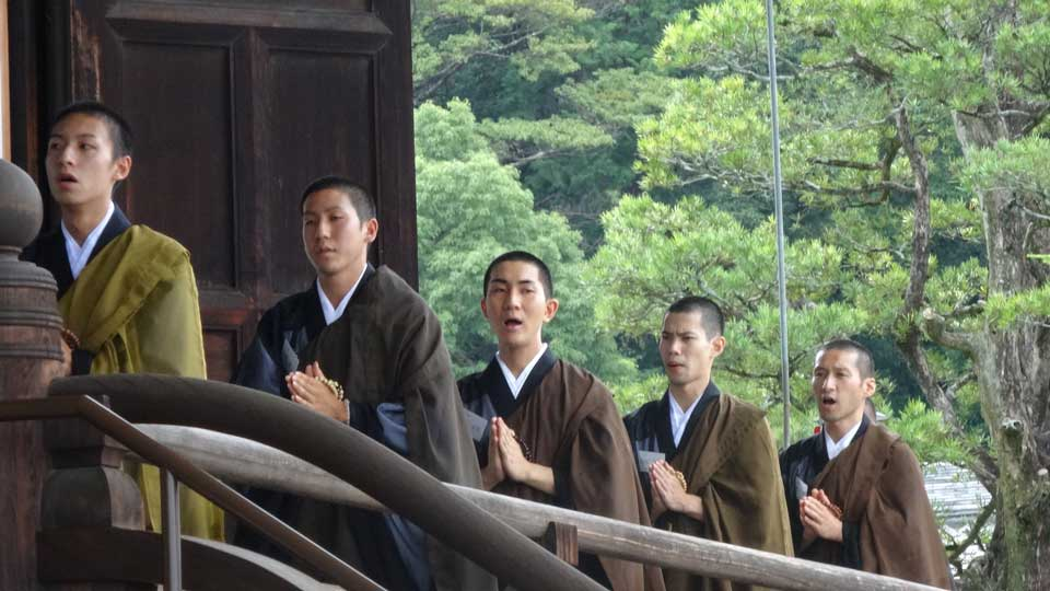 Nishimura's training as a monk