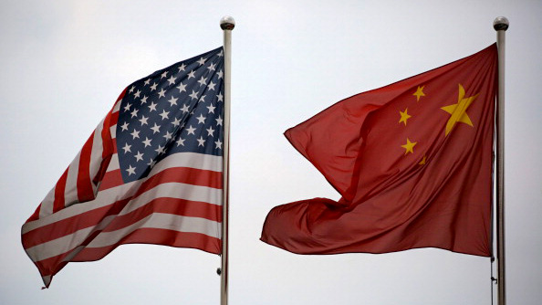 U.S. & China flags