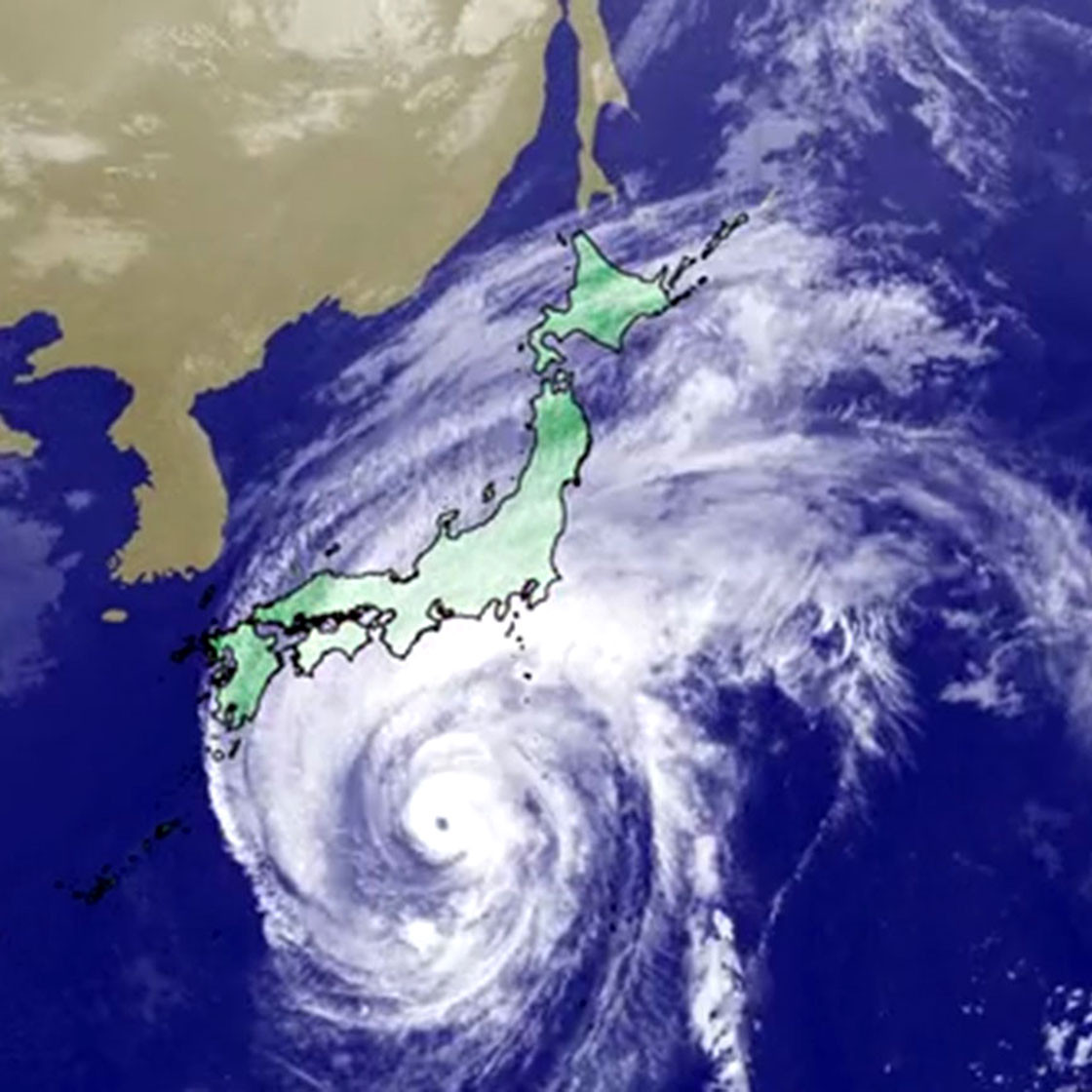 Why did Typhoon Hagibis shatter Japan's rainfall records?