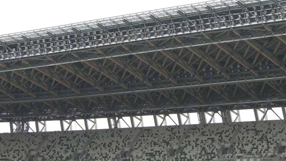 National Stadium uses traditional building techniques with lumber