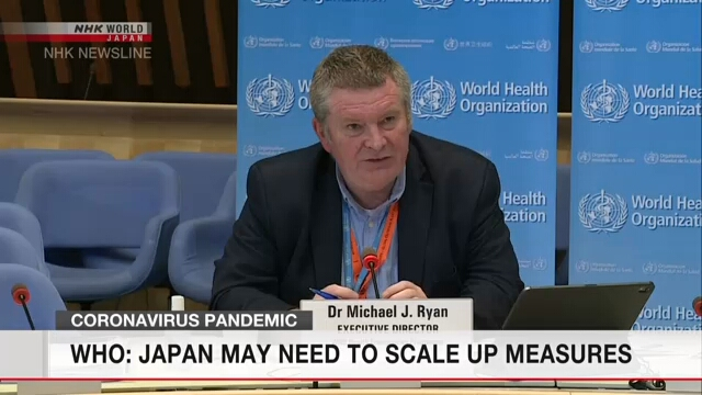 WHO: Japan may need to scale up measures