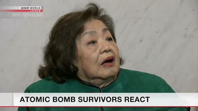 Hiroshima atomic-bomb survivor shows gratitude