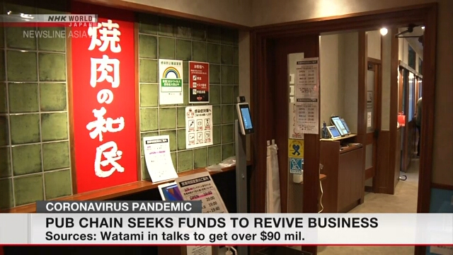 Pub chain Watami seeks funds to revive business