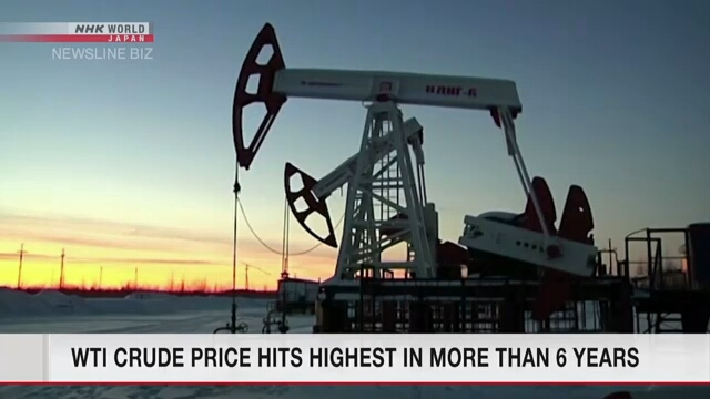 WTI crude price hits highest in more than 6 years