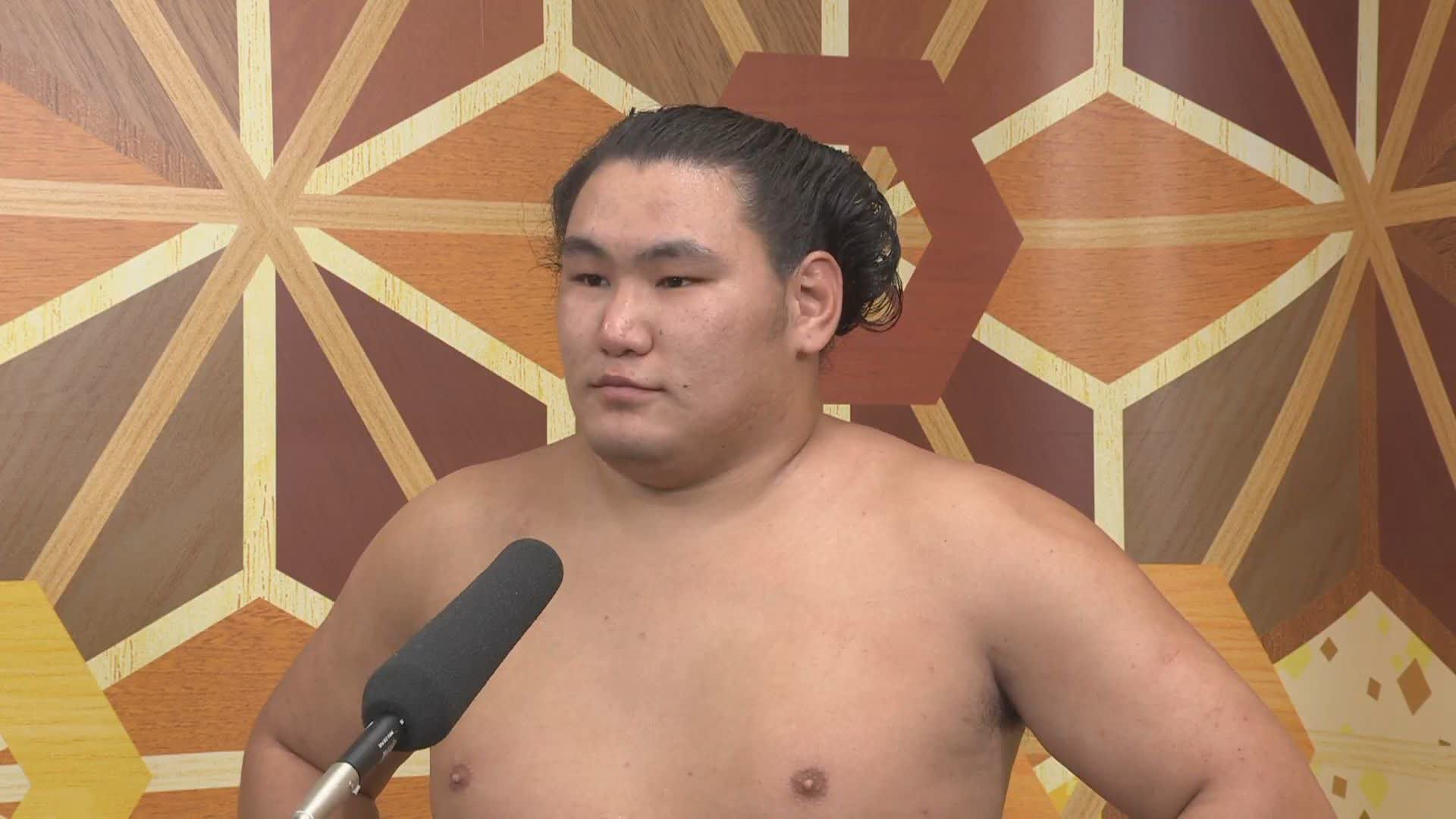 新入幕 豊昇龍 初日白星インタビュー